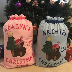 Personalised Baby's 1st Christmas Sack