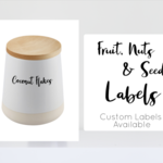 Custom SMALL - Nuts, Seeds & Dried Fruit Pantry Labels font#14