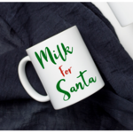 Milk For Santa - Cup decals - cookies and milk - vinyl decal - Christmas eve box