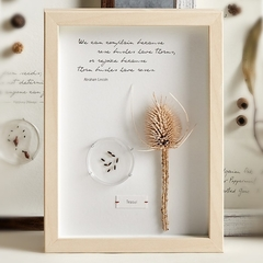 herbarium art, unique gift, quotation, handmade, timber frame, thorns, inspirati