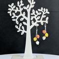 Tulip Ensemble Drop Earrings (Orange Yellow White or Custom)