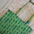 Christmas Bag - Green & Yellow Paisley - Totally Reversible