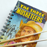The Three Musketeers notebook - Alexandre Dumas - Made from an upcycled book