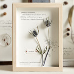 herbarium art, unique gift, quotation, handmade, thorns, inspirational