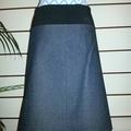 Denim Skirt with Marimekko flowers &  Bamboo Stretch Waist