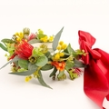 Native flowers - bright flower collar for country wedding.