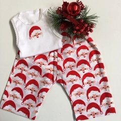 "New Born - ""Happy Santa"" Harem Pants & Appliqued Singlet"