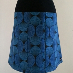 Blue Swirly Skirt with Bamboo Stretch Waist