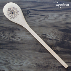 Wood Burnt Mandala Wooden Spoon