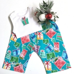 "New Born - ""Xmas Presents"" Harem Pants & Appliqued Singlet"