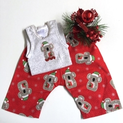"New Born - ""Xmas Koala"" Harem Pants & Appliqued Singlet"