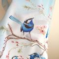 Australian Splendid Fairy Wren, Blue Wren Scarf, Australian Bird Scarves
