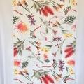 Native Australian Wild Flowers Scarf, Australian Flora Scarf, Scarves