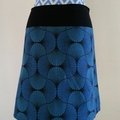 Blue Swirly Skirt with Bamboo Stretch Waist