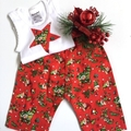 "New Born - ""Xmas Elves"" Harem Pants & Appliqued Singlet"