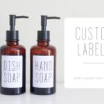 Custom Label #2 - Soap Labels - Pantry Labels - Waterproof Labels
