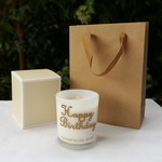 HAPPY BIRTHDAY - Champagne Rose Scented Soy Wax Candle