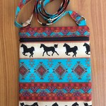 Cross Body Bag - Tribal Horses