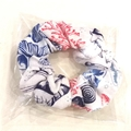 foldable eco bag + scrunchie  set / WHITE - beach / gift for beach lover