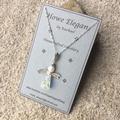 Swarovski AB crystal angel pendant, Sterling Silver, necklace