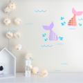 1 Mermaid Tail Wall Decals - removable wall stickers