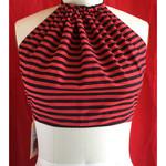 Vegan Designer Summer festival halter neck tie top. Size S to M.