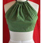 Vegan Designer Summer festival halter neck tie top. Size S to M