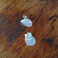 Recycled 99.9% Silver Teardrop Studs