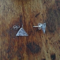 Recycled 99.9% Silver Triangle Studs