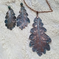 Real Oak leaf pendant.