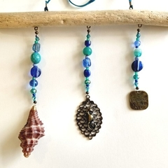 Blue & Green Seashell & Seahorse Sun Catcher