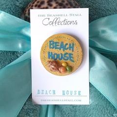 "Seashell Fridge Magnet - ""Beach House"" Collection"