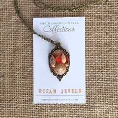 "Sailors Valentine Seashell Necklace - ""Ocean Jewels"" Collection"