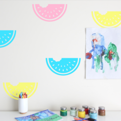 Watermelon Wall Decals - removable fruit wall decal