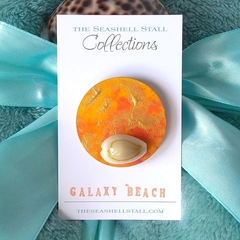 "Seashell Fridge Magnet - ""Galaxy Beach"" Collection"
