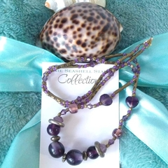 "Purple Bead Necklace - ""Beaded Jewels"" Collection"