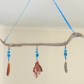 Blue Seashell Sun Catcher Mobile Hanging Art