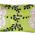 Mini Clutch - 'Lime Flowers'