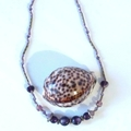 """Purple Bead Necklace - """"Beaded Jewels"""" Collection"""