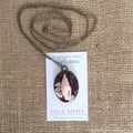 "Garnet and Seashell Necklace - ""Ocean Jewels"" Collection"