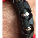 Vegan bicycle inner tube bracelet. Size M/S