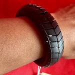 Vegan bicycle inner tube bracelet. Size XS