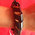 Vegan bicycle inner tube bracelet. Size S/XS