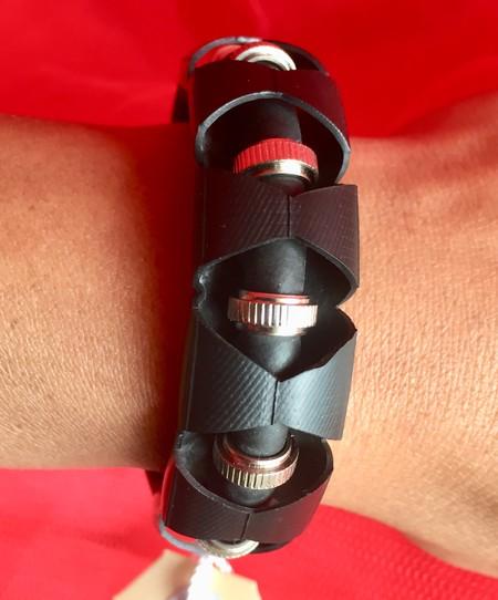 Vegan bicycle inner tube bracelet. Size XS