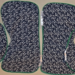 INCL POST Large Burp Cloth & Bib Set  Laminated Minky & 100% Cotton Print Fabric