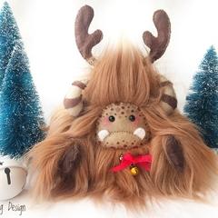 "Christmas reindeer plush yeti artist bear, Special Edition: ""JingleBell"""