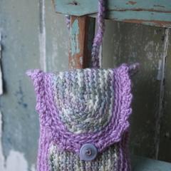 Soft Purple Crochet Bag ~ Pop in a Movie Voucher ~ Pop in a Gift Voucher