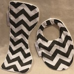 Burp Cloth/Bib Set/Bamboo Terry/100% Cotton Print Fabric/PUL Waterproof Layer