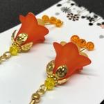 Orange & Green Flower Earrings