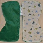 Large Burp Cloth made from Laminated Minky & 100% Cotton Printed Terry Cloth